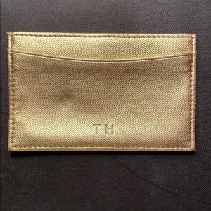 Tommy Hilfiger Gold Credit Card Holder